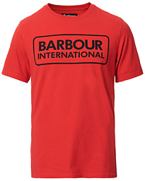 Barbour International Large Logo Crew Neck Tee Lava Red