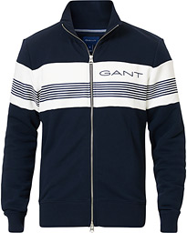 GANT Striped Full-Zip Evening Blue