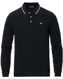 Emporio Armani Long Sleeve Polo Black