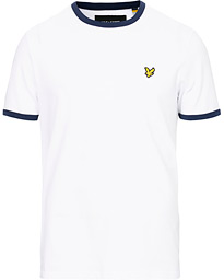 Lyle & Scott Ringer Crew Neck Tee White