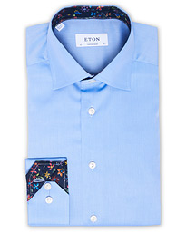 Eton Contemporary Fit Signature Twill Shirt Blue