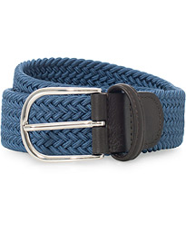 Anderson's Stretch Woven 3,5 cm Belt Blue