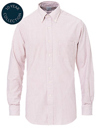 Regent Fit Cotton Oxford Shirt Red/White