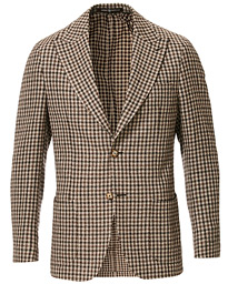 Morris Heritage Checked Patch Pocket Boucle Blazer Brown