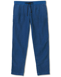BOSS Casual Symoon Linen Drawstring Trousers Navy
