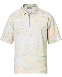 Maison Kitsuné Zipped Polo Multicolour Print