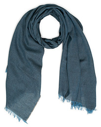 Fiji Cotton/Linen Scarf Denim Charcoal