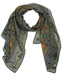 Drake's Cotton/Modal Moghul Scarf Soft Green