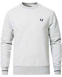 Fred Perry Crew Neck Sweatshirt Marl Grey