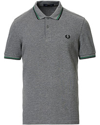 Fred Perry Twin Tip Polo Grey Marl