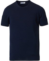 Superfine Worsted Merino Short Sleeve Tee Dark Navy