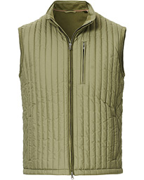 Hackett Channel Quilted Gilet Sage