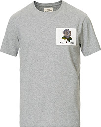 Rose Embroidered T-Shirt Grey