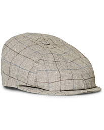 Lock & Co Hatters Summer Reverb Checked Cap Beige