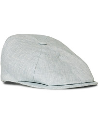 Lock & Co Hatters Summer Reverb Herringbone Linen Cap Grey