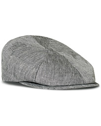 Lock & Co Hatters Summer Reverb Herringbone Linen Cap Black