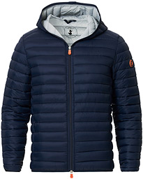 Save The Duck Lightweight Padded Hooded Jacket Navy Blue