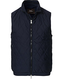 Oscar Jacobson Liner Quilted Waistcoat Navy