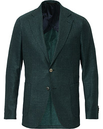 Oscar Jacobson Ferry Loro Piana Patch Pocket Blazer Green