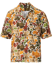Oscar Jacobson Hilmer Camp Collar Viscose Short Sleeve Shirt Multi