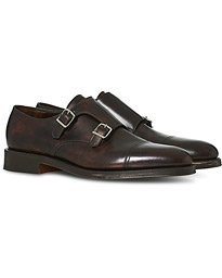 William Double Monkstrap Dark Brown Calf