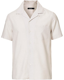 J.Lindeberg Daniel Silk Resort Short Sleeve Shirt Cloud Grey