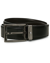 Montblanc Reversible Rectangular Buckle Belt 30mm Black/Brown