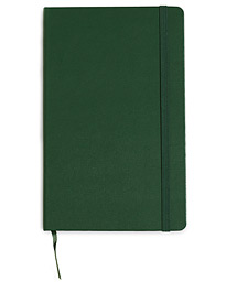 Plain Hard Notebook Large Myrtle Green