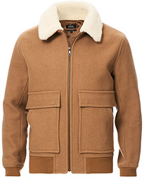 Bronze Blouson Jacket Brown