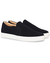 A Day's March Slip On Sneaker Dark Navy Suede