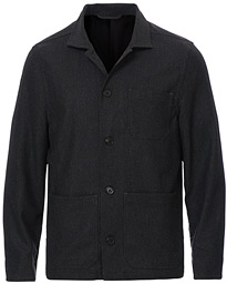 Louis Flannel Jacket Dark Grey Melange