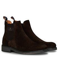 Brookly Chelsea Boot Dark Brown Suede