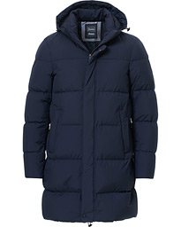 Herno Laminar Long Down Coat Navy