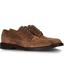 Longwing Brogue Brown Suede
