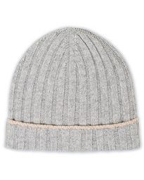 Cashmere Knitted Beanie Light Grey
