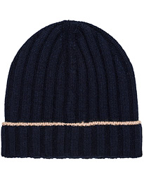 Cashmere Knitted Beanie Navy