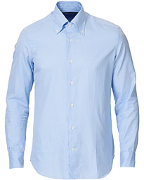 Soft Gingham Button Down Shirt Light Blue