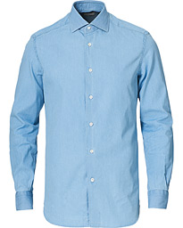 Soft Denim Button Down Shirt Washed Indigo