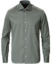 Cotton/Cashmere Overshirt Washed Green