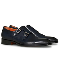 Blake Double Monk  Navy Calf