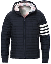 4 Bar Quilted Down Jacket Navy