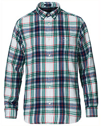 Regular Fit Windblown Flannel Check Shirt Ivy Green