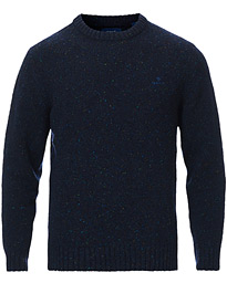 Neps Donegal Knitted Crew Neck Sweater Evening Blue