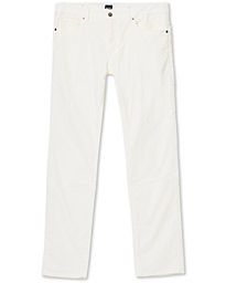 Maine3 Corduroy Trousers Open White