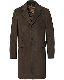 Wesley Wool/Cashmere Coat Brown
