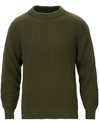 Nudie Jeans Frank Chunky Rib Sweater Olive