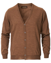 Merino Zegna Knitted Cardigan Camel