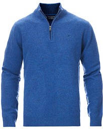 Lambswool Half Zip Coastal Blue