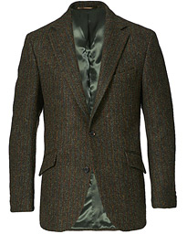 Edward Harris Tweed Herringbone Blazer Green