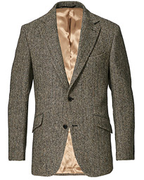 Edward Harris Tweed Herringbone Blazer Charcoal